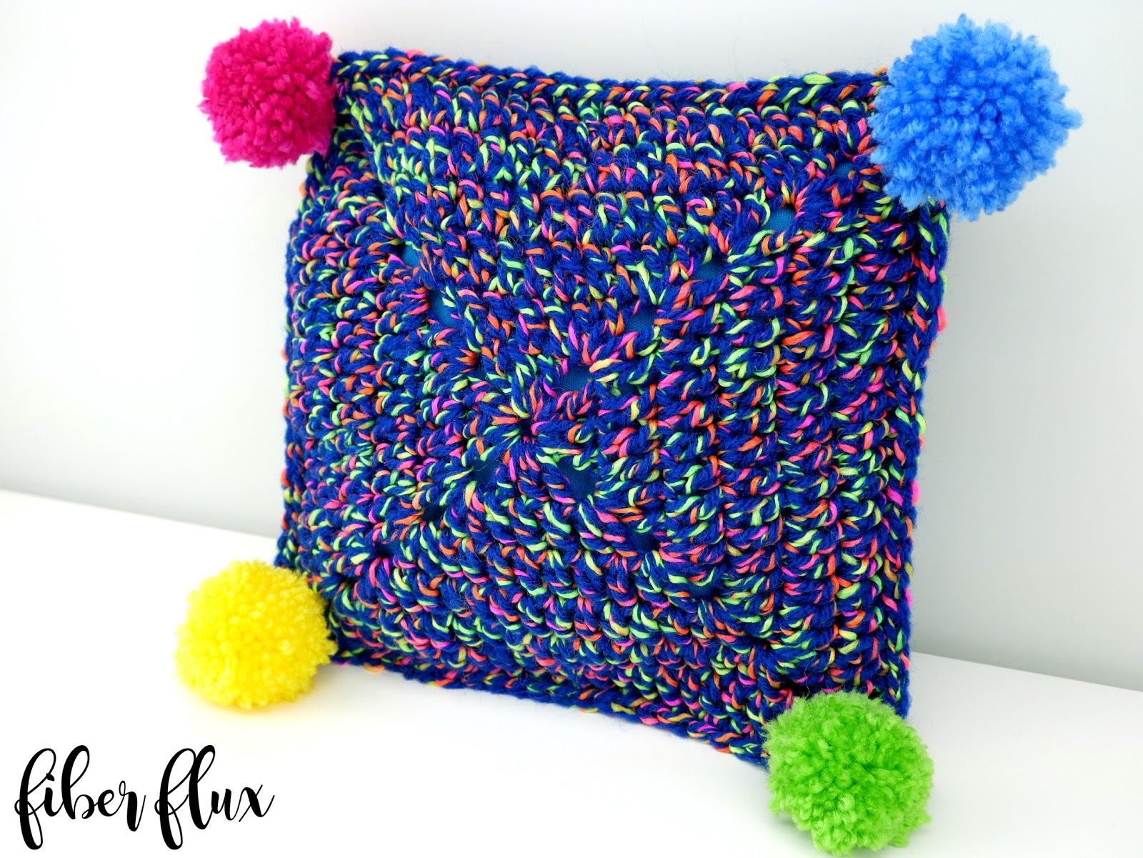 Free Crochet Patterns For Small Pillows : Fiber Flux: Free Crochet Pattern...Party Time Mini Pillow!