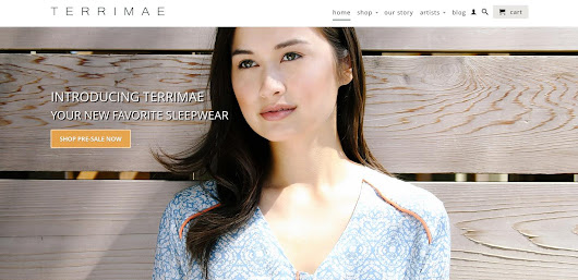 Julia is the face of Terrimae Pajamas!