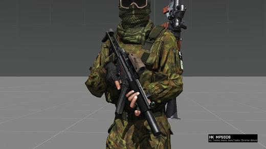 Arma 3用MP5 MODのMP5SD6