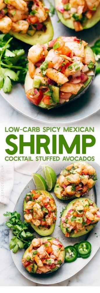 Mexican Shrimp Cocktail Stuffed Avocados