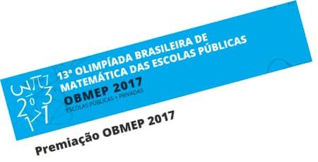 Premiação OBMEP 2017