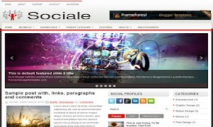 Sociale 3 Column Blogger Template