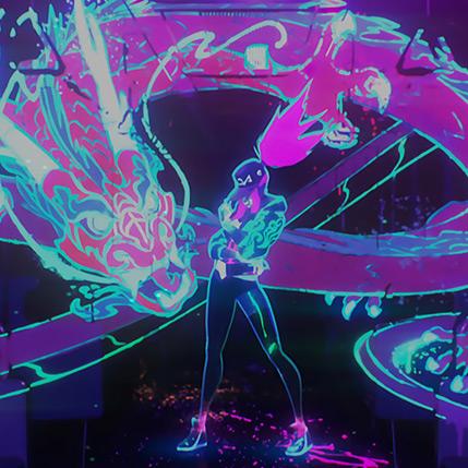 Akali - Neon Dragon Wallpaper Engine