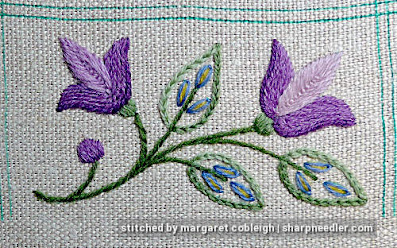 Crewel Sampler (by Elsa Williams): Another copleted motif