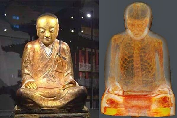 CT Scans Reveals  Mummy Of A Monk Inside A Buddha Statue