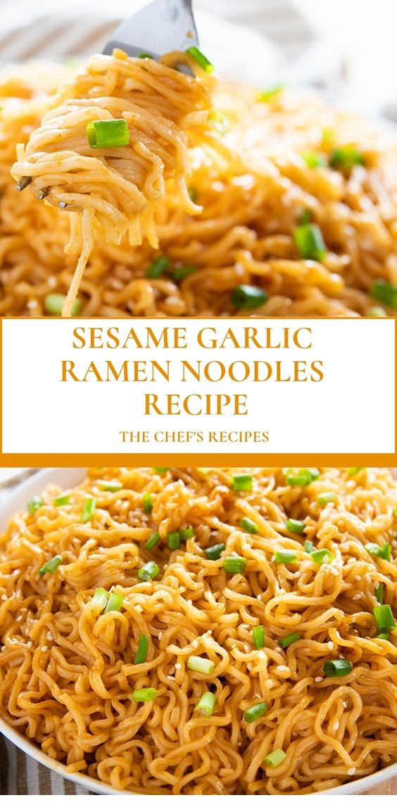 Sesame Garlic Ramen Noodles Recipe