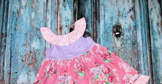 GypsySpoonful Rose Garden Daydreamer dress by That's So Addie. Custom size 2T-8
