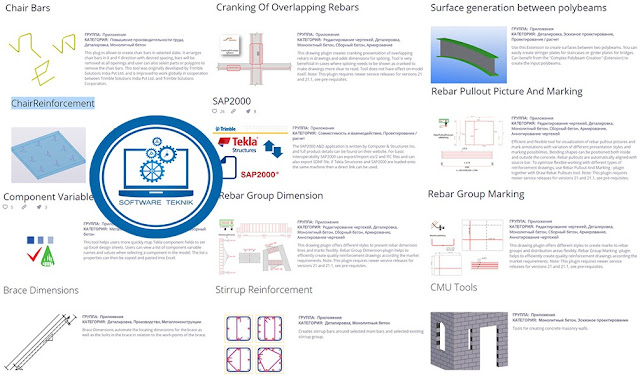 Trimble Tekla Reinforced Concrete 15 Extensions 2017