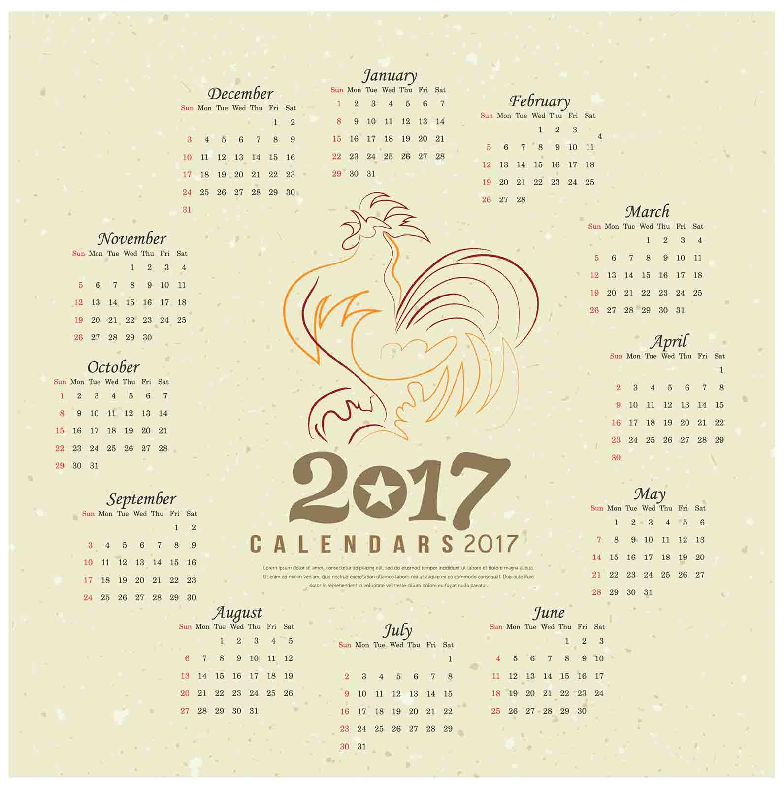 2017カレンダー無料 ...