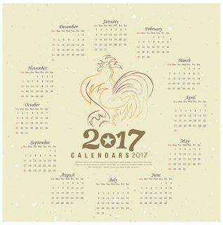 2017カレンダー無料テンプレート14