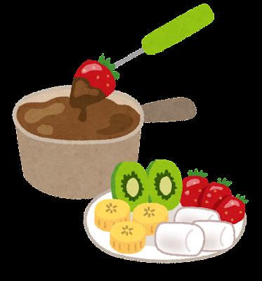チョコレートフォンデュのイラスト