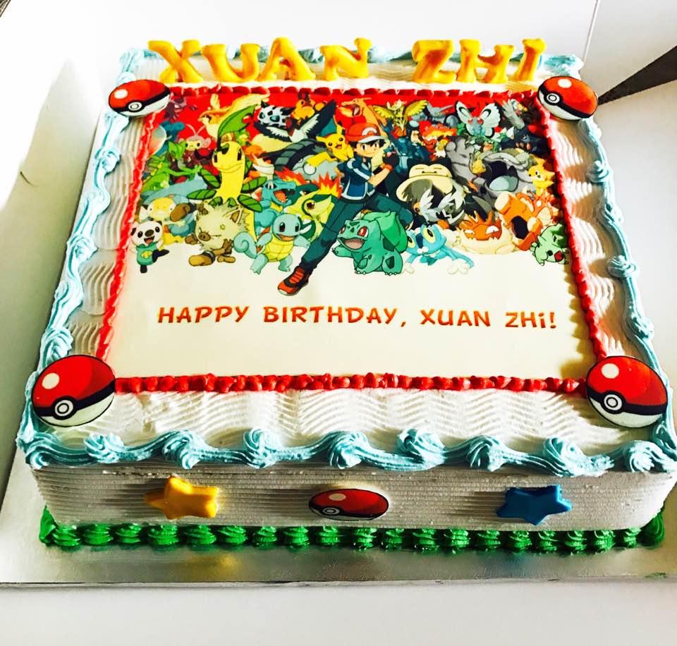 Izah's Kitchen: Pokemon Themed Halal Cake Singapore
