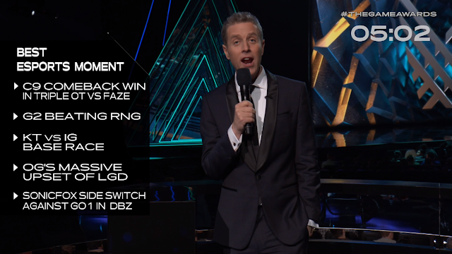 The Game Awards 2018 Geoff Keighley Best eSports Moment nominations pre-show
