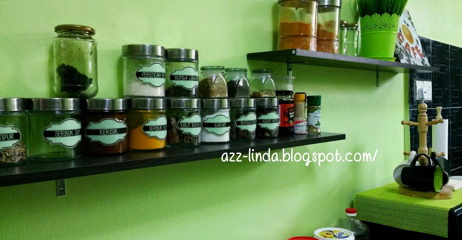 Ni Ruang Dapur Rumah Saya Sapa Yang Pernah Baca Blog Mesti Dah Penah Tengok Hijau Nih Kan Hehehe Kali Tambah Rak Untuk Letak Botol