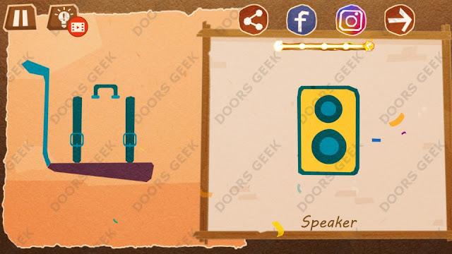 Chigiri: Paper Puzzle Novice Level 26 (Speaker) Solution, Walkthrough, Cheats