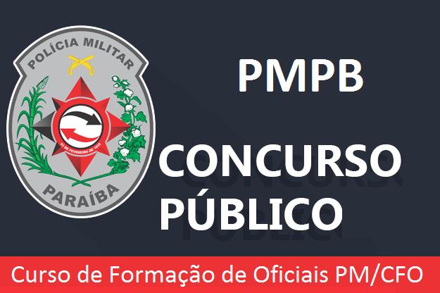 Polícia Militar-PB anuncia concurso CFO PM 2020 (Edital 2019)