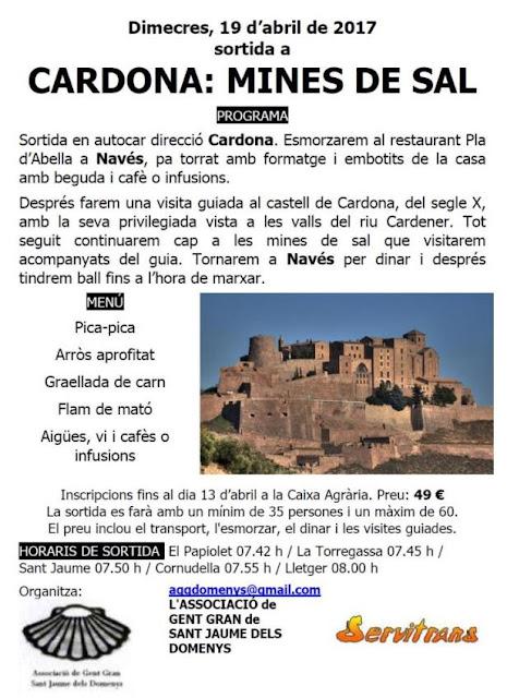 Esguard de Dona - Sortida a Cardona, les mines de Sal. Dimecres 19 d'abril de 2017