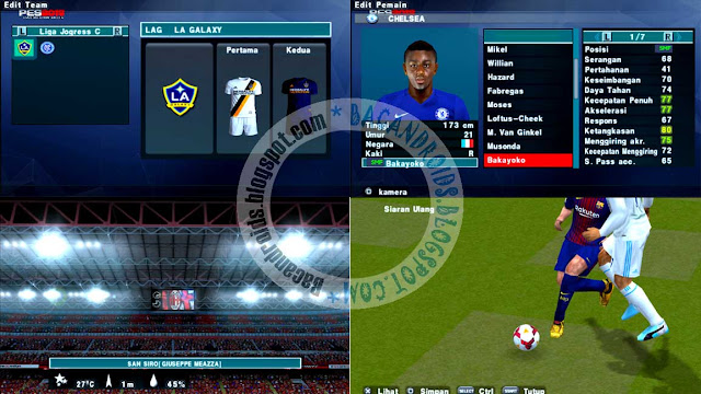 Screenshoot Update Texture PES 2018 ISO Compress For PPSSPP Android by Ragil Setyono