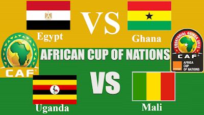 Egypt VS Ghana **  Uganda VS Mali African Nations Cup 2017 Gabon Wednesday 25 Jan 2017 costa rica,  mauritius , cuba, malta,sri lanka , portugal, israel, canada, iceland , singapore,panama,iran,pakistan,bangladesh, mali, peru, koweït,  australia, india, venezuela,