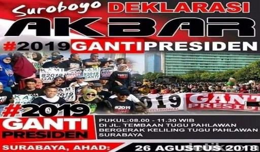 Ini Tindakan Polisi Jika Deklarasi #2019GantiPresiden Tetap Digelar di Surabaya