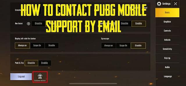 PUBG Mobile ile e-posta ile nasıl iletişime geçilir