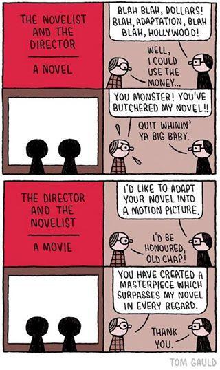 Meme sobre escritores y cineastas