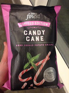 Tesco Finest Candy Cane Crisps Limited Edition