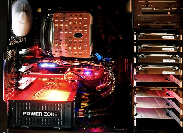 Server hosting websites.