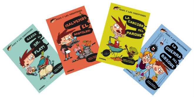 colección Agus y los monstruos, portada cuentos, libros infantiles