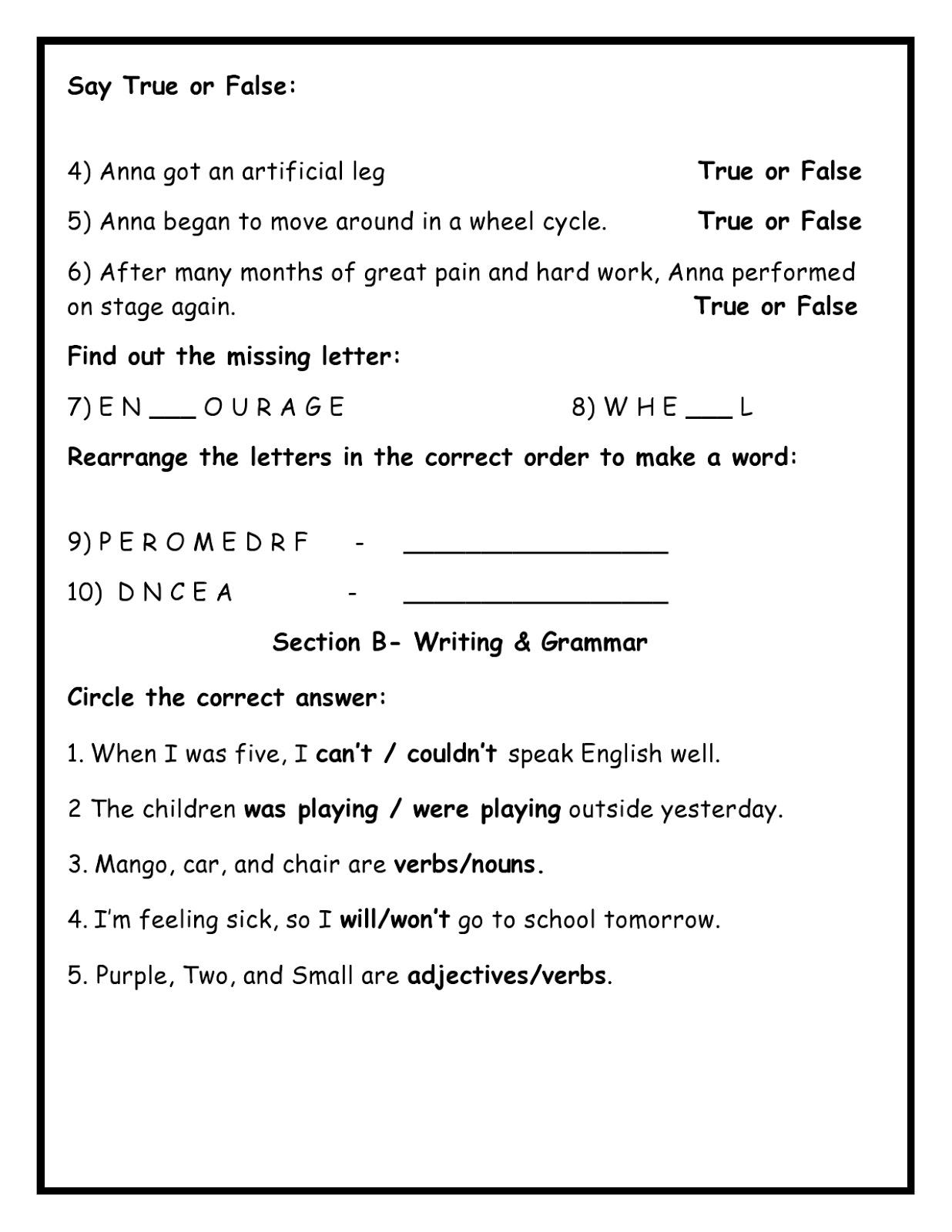 Birla World School Oman Homework For Grade 3 As On 23 12