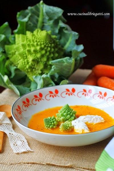 crema carote zenzero broccoli