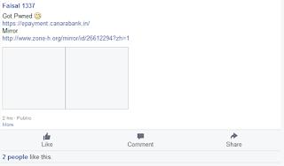 Canara Bank Website Hacked by Pakistani Hackers