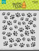http://www.newtonsnookdesigns.com/pawprints-stencil/