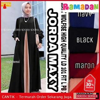 DDE034B52 Baju Muslim Wanita Gamis Lebaran Syari 2019 Pesta BMGShop