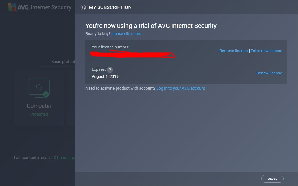 avg internet security 2019 latest key