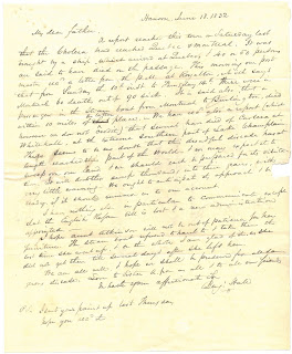 Letter from Benjamin Hale to his father, 18 June 1832
