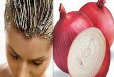 وصفات تطويل الشعرمع عصير البصل والحلبة   lengthening hair with onions, fenugreek Recipes
