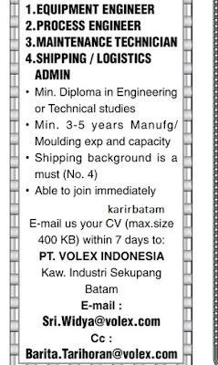 Lowongan Kerja PT. Volex Indonesia