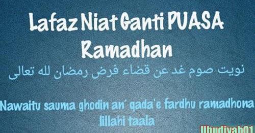 Bacaan Niat Dan Doa Buka Puasa Ganti Qadha Ramadhan syawal