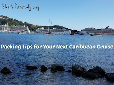 Blog With Friends, multi-blogger projects based on a theme. This month's theme is Hot Fun | Packing Tips for your Next Caribbean Cruise by Eileen of Eileen's Perpetually Busy | Featured on www.BakingInATornado.com | #DIY