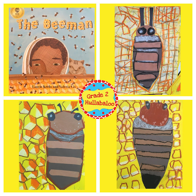 Second grade book study of The Beeman by Laurie Krebs