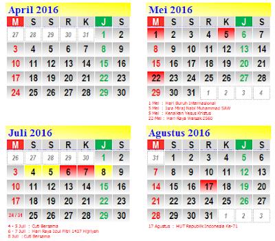 gambar aplikasi kalender 2016