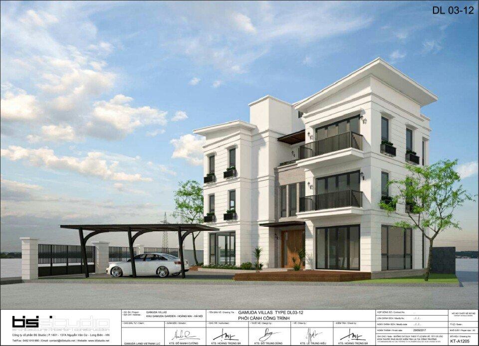 Mẫu thiết kế DL03-12 của Khu Đô Thị Gamuda Gardens