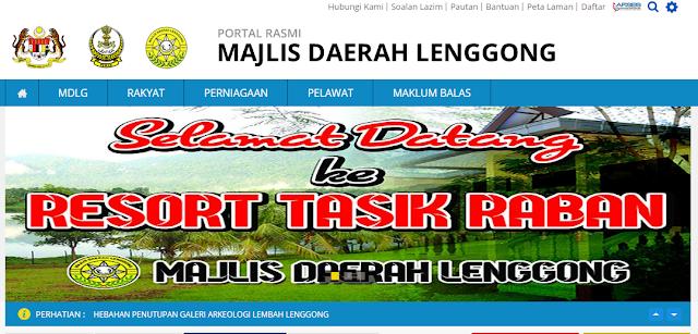 Rasmi - Jawatan Kosong (MDL) Majlis Daerah Lenggong Terkini 2019