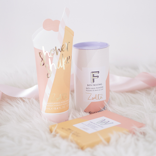 Zoella Jelly & Gelato Shower Shake, Bath Frosting and Pink Bath Wafers