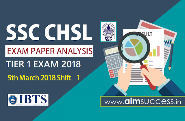 SSC CHSL Tier-I Exam Analysis 5th March 2018: Shift - 1