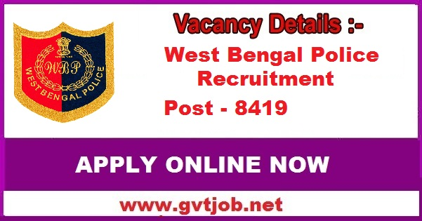 West Bengal Police 8419 Constable Know How To Apply Sarkari Jobs