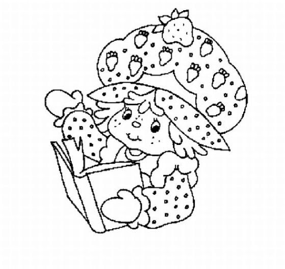 Coloring Pages Online: Strawberry Shortcake Coloring Pages