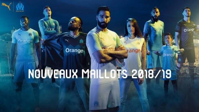 Les maillots de l'OM 2018-2019 dévoilés !