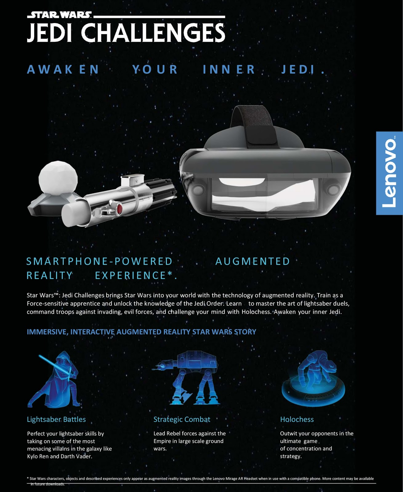 Lenovo, Disney Out Star Wars: Jedi Challenges AR Device for Php14,999